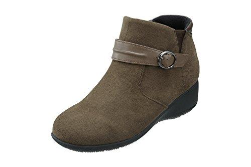 音声学マグ追放するPansy(パンジー) 4641 パンジー ブーツ 生活防水 ショートブーツ 3E レディース スエード調素材 ベルトがお洒落 歩きやすいシューズ