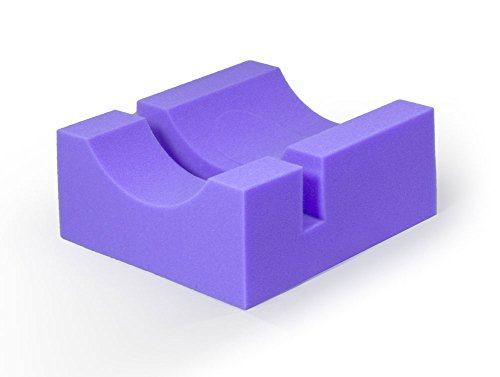MediChoice Foam Slotted Cradle Head Positioner, Disposable, Single Use, Purple, 1314P40404 (Each of 1)