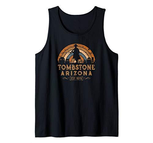 Tombstone Arizona AZ Retro Style Wild West Gift Tank Top