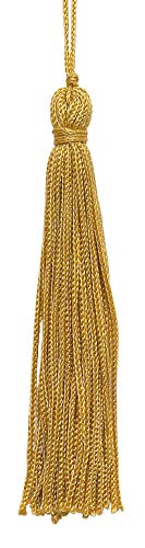 DÉCOPRO Set of 10 Gold Chainette Tassel, 4 Inch Long with 1 Inch Loop, Basic Trim Collection Style# RT04 Color:Gold - C4