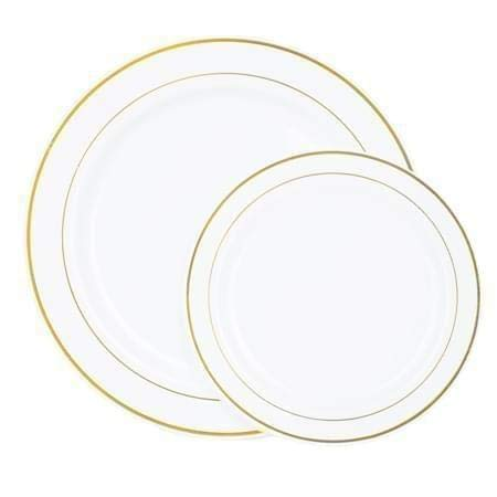Disposable Plates 60 PACK Heavyweight Plastic White with
