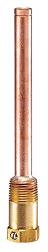 Johnson Controls WEL14A-603R Penn Bulb Well, Brass Connector, Copper Tube, 250°F Maximum Temperature, 7.905