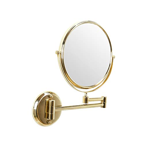 Wall Mounted Makeup Mirror 3X Magnification Rotate Double Sided Vanity Mirror Stretch -