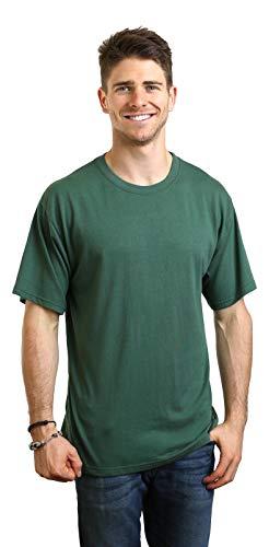Spun Bamboo Men's Bamboo Rayon/Organic Cotton Short Sleeve T-Shirt-Large-Pine Green