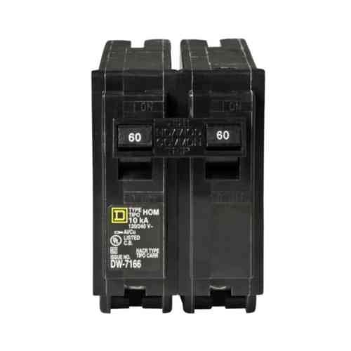 60a 2 Pole Breaker (Your One Source HOM260CP  60-Amp 2-Pole Plug-On Circuit Breaker)