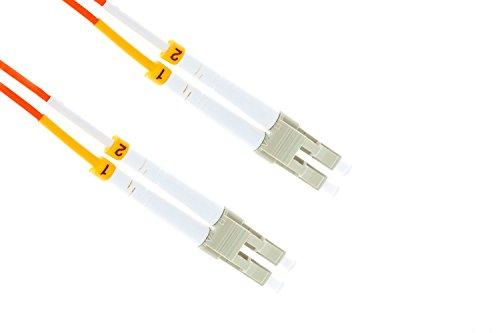 LC-LC OM2 1 Gigabit Multimode Duplex 50/125 Fiber Optic Patch Cable, 1 Meter, Orange