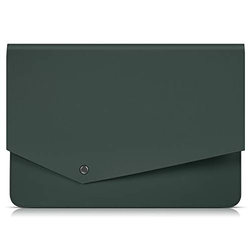LEATHEORY 13.3 Inch Laptop Sleeve, Superior Leather Waterproof Protective Bag for 13.3 Inch Laptop,old 13.3 inch MacBook Air(A1369, A1466)/MacBook Pro Retina (13.3inch-Fit Old MacBook Pro&Air, Green)