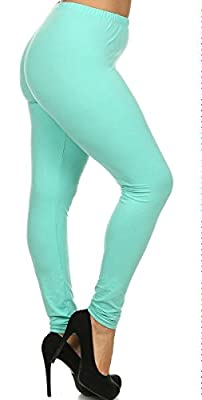 Leggings Depot Ultra Soft Basic PLUS Solid Plain Best Seller Leggings Pants 128