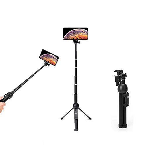 Wevon Selfie Stick Tripod, 45 inch Extendable Selfie Stick with Tripod, Phone Tripod with Wireless Remote Shutter Compatible with iPhone Xs Max Xr X 8 7 6 6s 5 Plus, Android, Samsung Galaxy and More