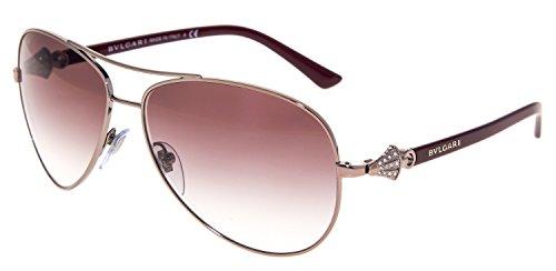 Bvlgari Womens Sunglasses (BV6073) Purple/Pink Metal - Non-Polarized - - Bvlgari Sunglasses Polarized