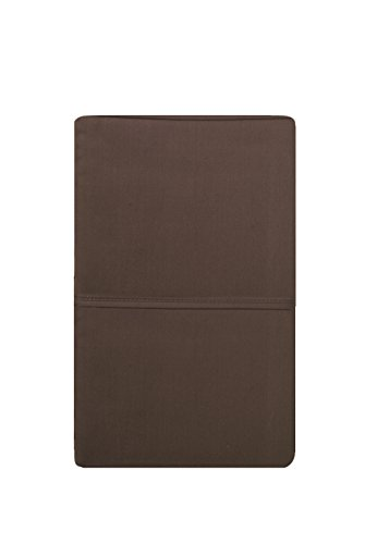 Elizabeth Arden Soft Breeze 400 Thread Count Pillowcase Set - Ultra-Fine Natural Pure Long-Staple Combed 100% Cotton - (Set of 2 Standard/Queen, Brown) - Elizabeth Arden Spa