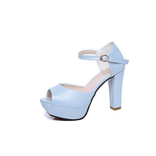 De Moda Tacon Nuevo KHSKX Azul Alto Color Estilo De Zapatos Claro Y Treinta Corea nine De Sandalias Y Thirty De Nueve xCw8dzqwrX