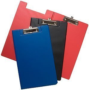 shop inc Pack of 6 Quality Foldover A4/Foolscap Clipboards (Red)