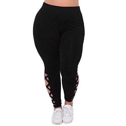 発生主張主張TOPmountain 女性の毎日 ストレッチスポーツヨガ 抉ります ロングパンツ プラスサイズのパンツ ブラック