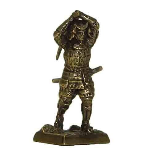 CTOC Samurai in armor tatami-do Bronze Statuette Samurais 2 series Handmade military historical miniature 40 mm Collection figurine metal toy Soldier min22