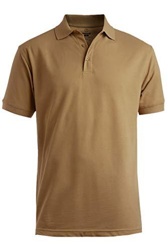 (Edwards Men's Blended Pique Short Sleeve Polo Large TAN)