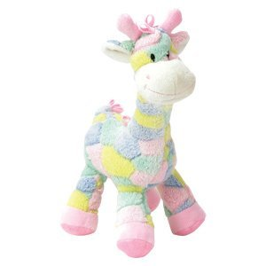 Giraffe Pastel - SO Cute! - PASTEL 13 Plush GIRAFFE RATTLE for BABY/Crib TOY/Infant GIFT/BABY SHOWER Gift BOY or GIRL by K&G