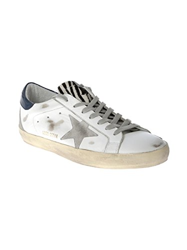 GOLDEN GOOSE HOMME G30MS590B48 BLANC CUIR BASKETS