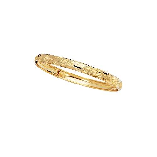 Bracelet Jonc en or jaune 10K 6mm-Longueur Options: 18-20-Doré Grade Plus élevé que or 9carats