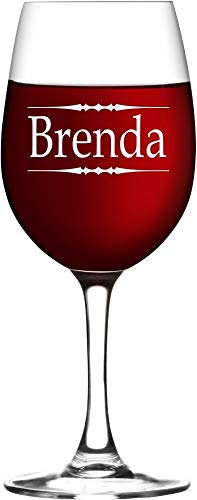 Personalized Engraved Wine Glass with ANY text - WG04 ()