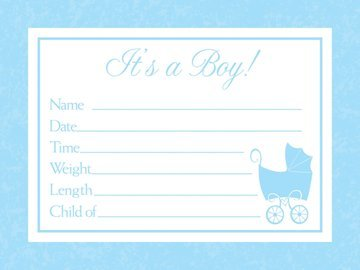 Baby Love Blue Announcement Cards (Best Birth Announcement Cards)
