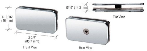 - CRL Chrome Junior Traditional Style Fixed 180 Degree Glass Clamp for 1/4