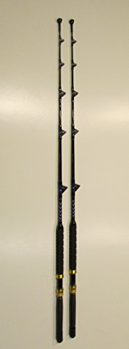 (XCALIBER MARINE PAIR OF (2) TOURNAMENT SERIES 6' 50-80 lb SALTWATER TROLLING RODS)