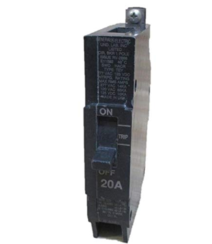 1- TEY120 GE 20 AMP, 1 POLE, 277VAC TEY CIRCUIT BREAKER 20A 1P GENERAL ELECTRIC (NEW - Pole 20 Ge Amp 1