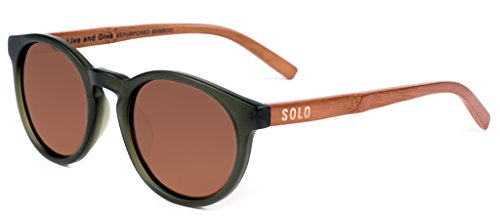 SOLO Eyewear - Handcrafted & Repurposed Bamboo - Forest Green Guyana - Polarized India Sunglasses