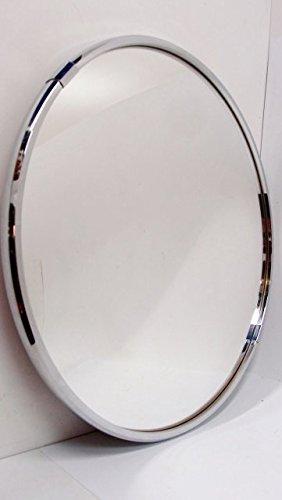 Spiegel 60er Messing Verchromt Silber Rund 60 Cm Wandspiegel Glas
