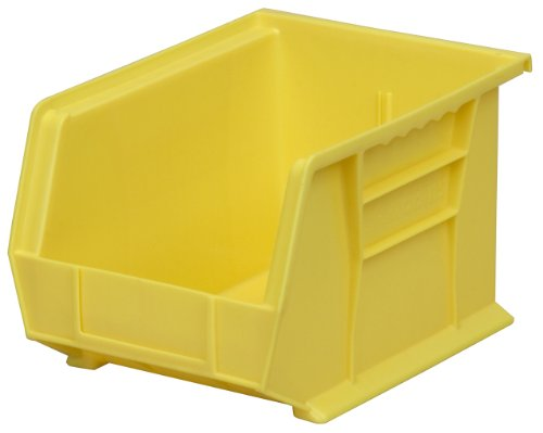 Akro-Mils 30239 Plastic Storage Stacking Hanging Akro Bin, 11-Inch by 8-Inch by 7-Inch, Yellow, Case of 6
