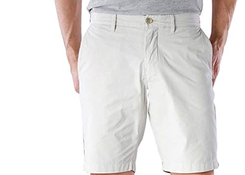 Tommy Hilfiger Mens Classic Fit Flat Front Khaki, Chino Shorts (42, Gray Violet)