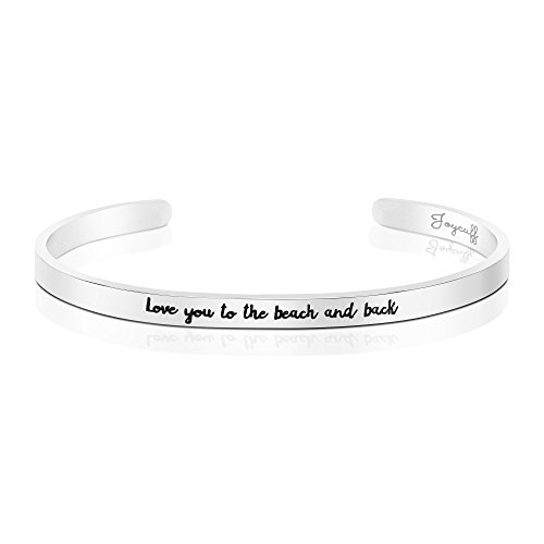 Joycuff Beach Jewelry Stainless Steel Cuff Bangle Bracelet Ocean Inspired Love You To The Beach And Back by Joycuff (Image #5)