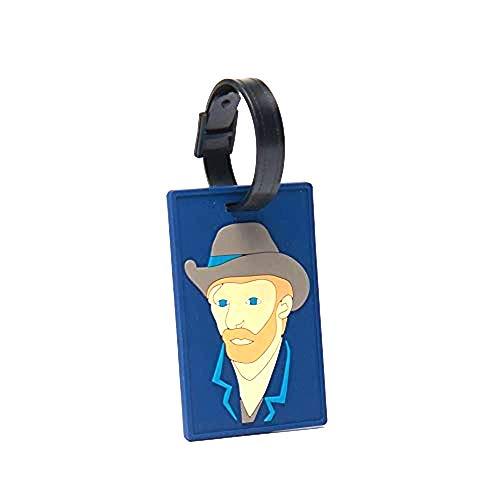 Luggage Bag tag Vincent Van Gogh Self-portrait with Grey Felt Hat (Vincent Van Gogh Self Portrait With Felt Hat)