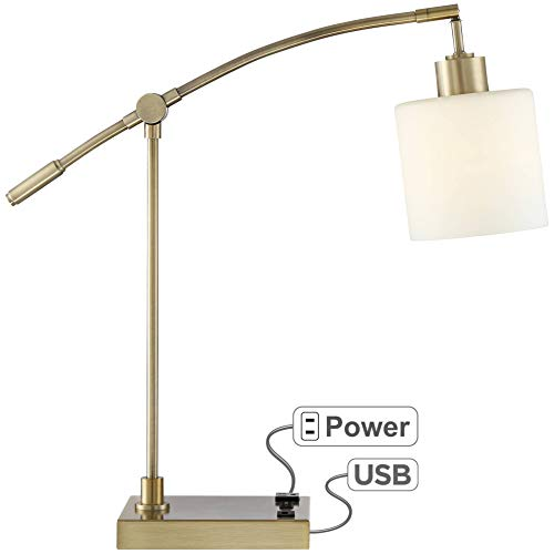 Kipling Desk Lamp with Oulet and USB Port - 360 Lighting