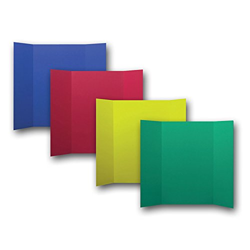 Flipside 36 x 48 Inch Primary Colors Project Display Board, 24 Pack by Flipside