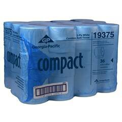 Georgia-Pacific Compact 19375 Coreless 2-Ply Bathroom Tissue (Case of 36 Rolls 1000 Sheets Per Roll) Bath Tissue 1000/2 Ply