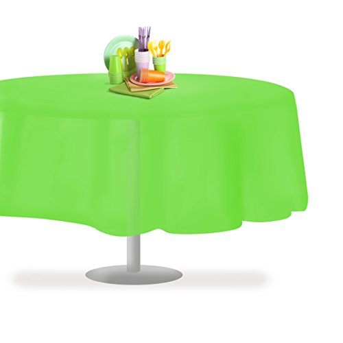 Grandipity Lime Green 6 Pack Premium Disposable Plastic Tablecloth 84