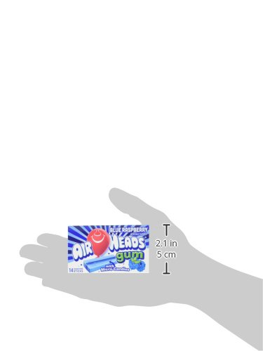 Airheads Candy Sugar-Free Chewing Gum with Xylitol, Blue