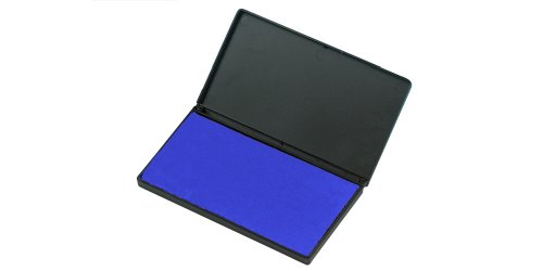 Charles Leonard Felt Stamp Pad, Large, 3.25 x 6.25 Inches, Blue (92815)