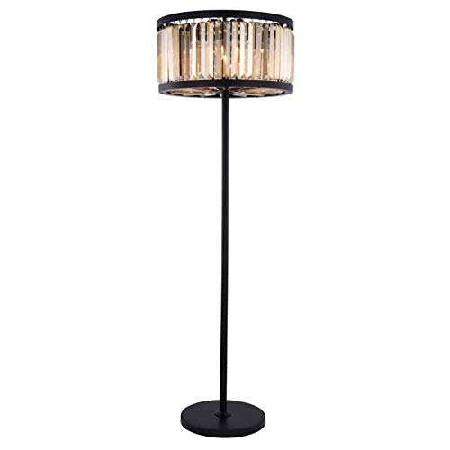 Urban Classic 1233Chelsea Collection Floor Lamp D:25in H:72in Lt:6 Matte Black Finish (Royal Cut Crystals)