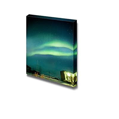 Canvas Prints Wall Art - Aurora Borealis Over Iceland's National Park | Modern Wall Decor/Home Decoration Stretched Gallery Canvas Wrap Giclee Print. Ready to Hang - 16