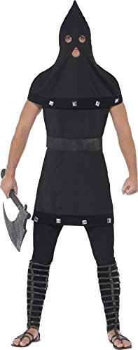 Smiffy's Men's Dungeon Costume, Tunic and Hood, Legends of Evil, Halloween, Size ML, 44356 for $<!--$15.03-->