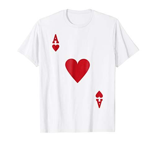 Halloween Ace of Hearts Costume Shirt Men Women ()