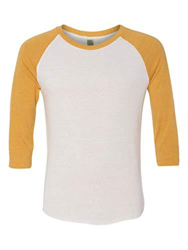 Tone Raglan T-shirt (Alternative Men's Baseball Tee, Eco True Gold, Small)