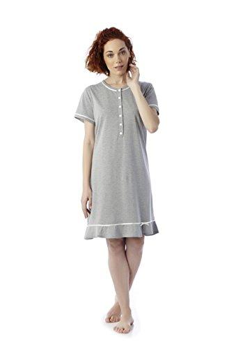 Mabel Intima - Camicia da notte a maniche corte - Taglie dalla 3 alla 10. Stampa di topitos.