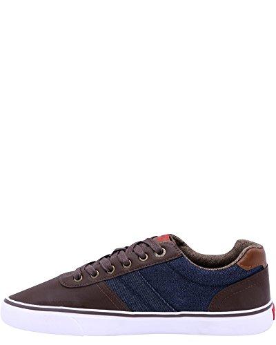 Sneakers Levis Mens Miles Cacti / Denim, Marrone / Navy, 7.5