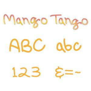 Sizzix 654395 Sizzlits Alphabet Set, 35 Dies, Mango Tango by Scrappy Cat by Sizzix