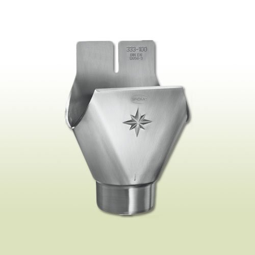 Zink Steckrinnenboden halbrund RG 200 mm rechts