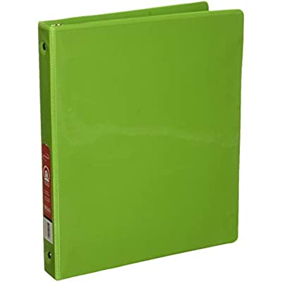 bazic-1-lime-green-3-ring-view-binder